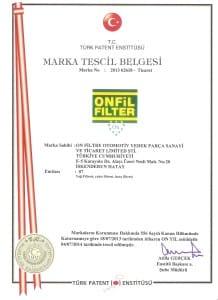 ONFIL MARKA TESCIL Onfiltre (Onfil Filter & Kraff Filter)