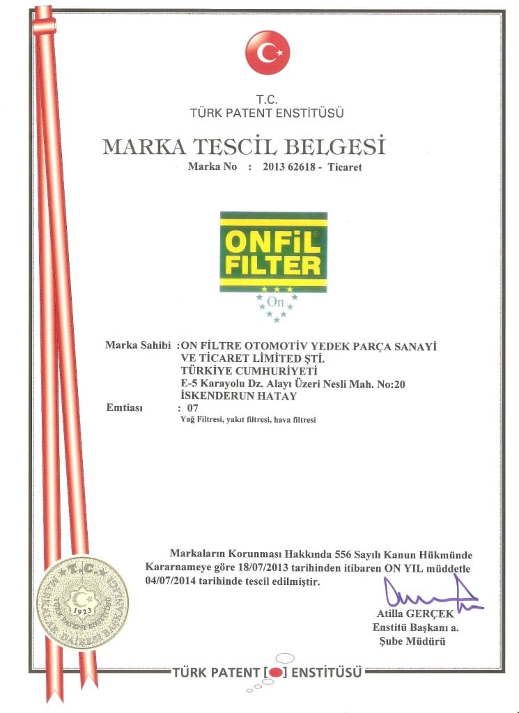ONFIL MARKA TESCIL Onfiltre